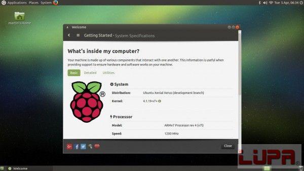 Ubuntu 16.04 MATE树莓派3版本开始支持板载